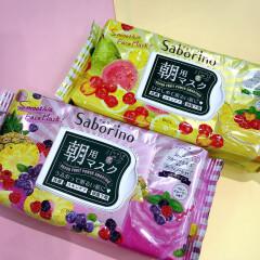 今みんな使ってる朝のひきしめケア!#サボリーノ 朝マスク 数量限定★スムージーの香り入荷しました♪