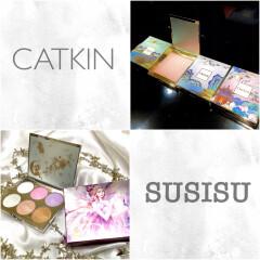 美人度UP‼️大人気 中国コスメのハイライト【CATKIN】【SUSISU】