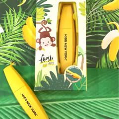 なんとマスカラサイズΣ( ºωº )!!パケめちゃ可愛いバナナのヘアアイロン♡専用USBケーブル&携帯用ポーチ付き コードレス♪