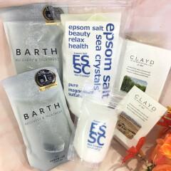 【プレゼント🎁ギフトにもおすすめ💕おこもり美容には入浴剤がマストアイテム🛀💕】BARTH(バース)・CLAYD(クレイド)・エプソムソルト お風呂で疲労回復と睡眠導入しましょう♨️
